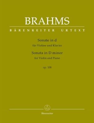 Johannes Brahms - Sonate en ré mineur, op. 108 - Violon et piano - Partition - di-arezzo.fr