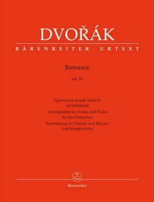 DVORAK - Romance, op. 11 - Violin and piano - Sheet Music - di-arezzo.com