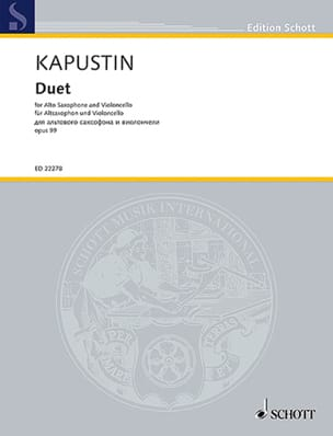 Nikolai Kapustin - Duo opus 99 - Partition - di-arezzo.fr