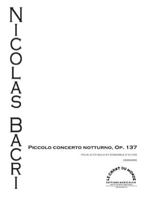 Piccolo concerto notturno Nicolas Bacri Partition Alto - laflutedepan