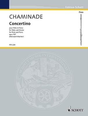 Cécile Chaminade - Concertino, op. 107 - Flute and piano - Sheet Music - di-arezzo.com