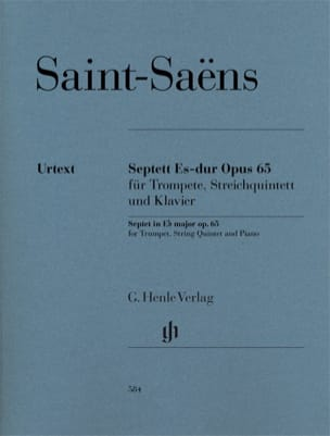 Camille Saint-Saëns - Septuor, op. 65 - Parties + Conducteur - Partition - di-arezzo.fr