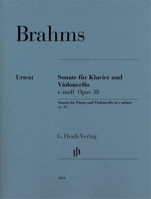 BRAHMS - Sonata in E minor, op. 38 - Cello and piano - Sheet Music - di-arezzo.co.uk