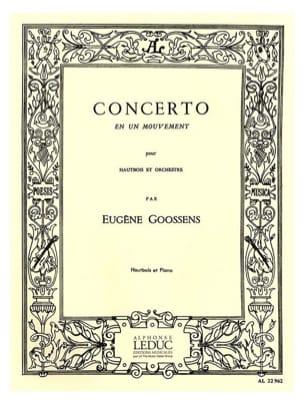 Eugène Goossens - Concerto en un mouvement - Partition - di-arezzo.fr