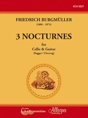 Friedrich Burgmüller - 3 Nocturnes - Cello and Guitar - Sheet Music - di-arezzo.com