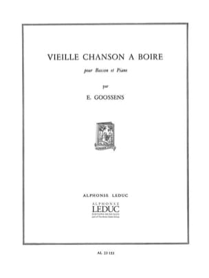 Vieille Chanson A Boire - Basson/Piano - laflutedepan.com