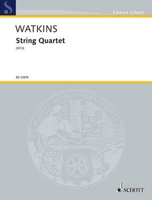 Huw Watkins - String Quartet (2013) - Parties + Conducteur - Partition - di-arezzo.fr