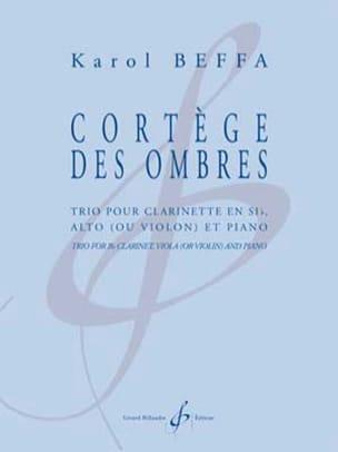 Karol Beffa - Cortège des Ombres - Trio Clarinette, alto et piano - Partition - di-arezzo.fr