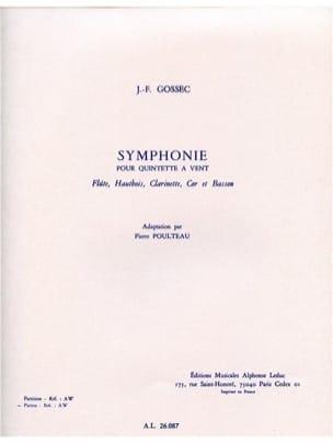 Gossec François-Joseph / Poulteau Pierre - Symphonie -Quintette à vent - Parties - Partition - di-arezzo.fr