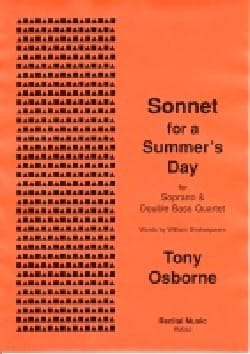 Osborne Tony - Sonnet for a Summer's Day - Partition - di-arezzo.fr