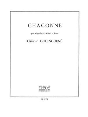 Christian Gouinguene - Chaconne - Sheet Music - di-arezzo.co.uk