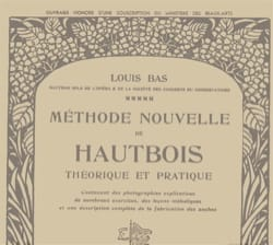 Louis Bas - New theoretical and practical method of oboe - Sheet Music - di-arezzo.co.uk