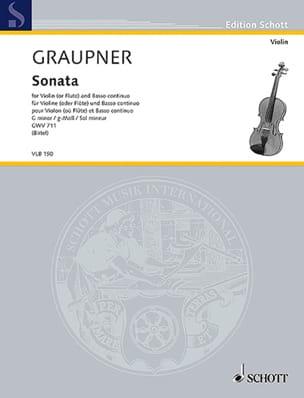 Christoph Graupner - Sonata in G minor - Violon and BC - Sheet Music - di-arezzo.com