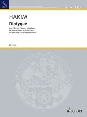 Naji Hakim - Diptyque - Flute and piano - Sheet Music - di-arezzo.com