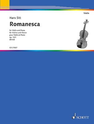 Hans Sitt - Romanesca, op. 13 n° 1 - Violon et piano - Partition - di-arezzo.fr