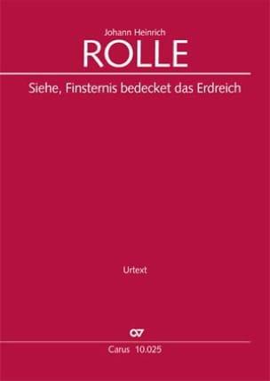 Johann Heinrich Rolle - Siehe, Finsternis, bedecket das Erdreich - Urtext - Partition - di-arezzo.fr