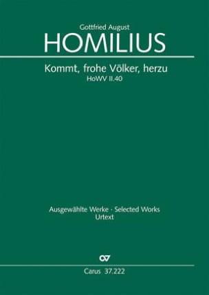 Gottfried August Homilius - Kommt, frohe Völker, herzu - HoWV II.40 - Partition - di-arezzo.fr