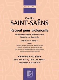 Camille Saint-Saëns - Recueil pour violoncelle Vol. 2 - Partition - di-arezzo.fr