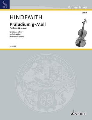 Prélude en sol mineur - violon solo HINDEMITH Partition laflutedepan