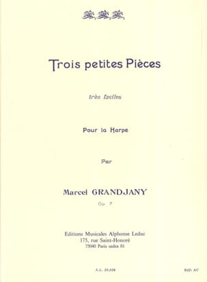 Marcel Grandjany - 3 Very easy little parts op. 7 - Sheet Music - di-arezzo.co.uk