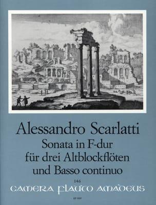 Sonata in F-dur Alessandro Scarlatti Partition laflutedepan