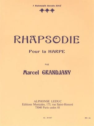 Rhapsodie - Marcel Grandjany - Partition - Harpe - laflutedepan.com