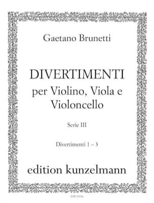 Gaetano Brunetti - Divertimenti n ° 1 to 3 - Violin, viola and cello trio - Sheet Music - di-arezzo.com