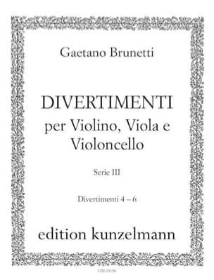 Gaetano Brunetti - Divertimenti n ° 4 to 6 - Violin, viola and cello trio - Sheet Music - di-arezzo.com