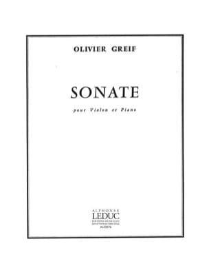 Olivier Greif - Sonate pour Violon - Partition - di-arezzo.fr
