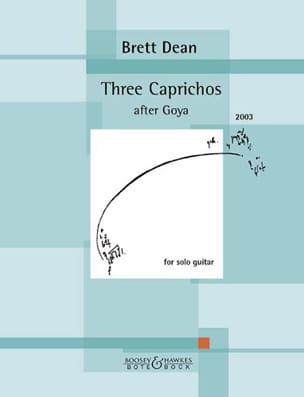 Brett Dean - 3 Caprichos after Goya - Guitare - Partition - di-arezzo.fr