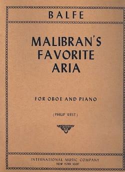 Michael William Balfe - Malibran's Favorite Aria - Hautbois et piano - Partition - di-arezzo.fr