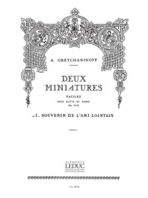 2 Miniatures op. 145 : 1. Souvenir de l'ami lointain - Flûte laflutedepan