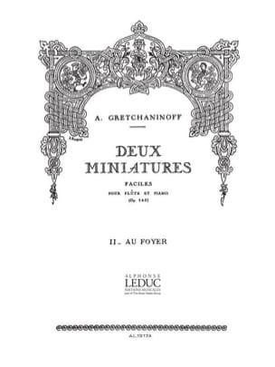 2 Miniatures op. 145 : 2. Au foyer- Flûte laflutedepan