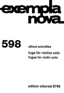 Alfred Schnittke - Fuge fur Violine solo - Partition - di-arezzo.fr