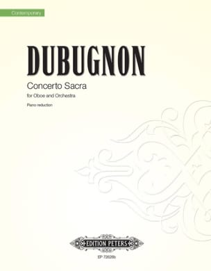 Richard Dubugnon - Concerto Sacra - Oboe and piano - Sheet Music - di-arezzo.com