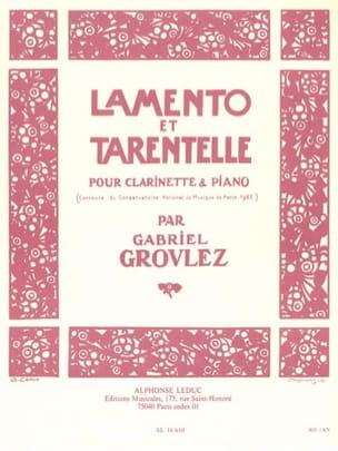 Gabriel Grovlez - Lamento and Tarantella - Sheet Music - di-arezzo.co.uk