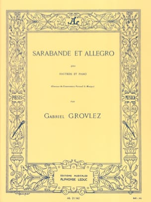 Gabriel Grovlez - Sarabande and Allegro - Sheet Music - di-arezzo.co.uk