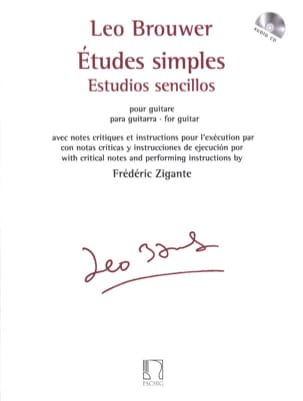 Leo Brouwer - Simple studies - Guitar - Sheet Music - di-arezzo.com