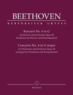BEETHOVEN - Concerto No. 4 in Sol M., op. 58 - Sextet Strings and Piano - Sheet Music - di-arezzo.com