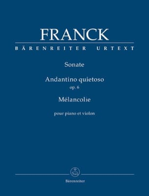 Sonate / Andantino quietoso / Mélancolie - Violon et piano laflutedepan