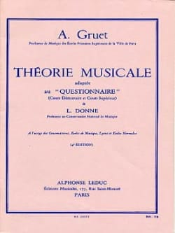 A. Gruet - Théorie musicale - Partition - di-arezzo.fr