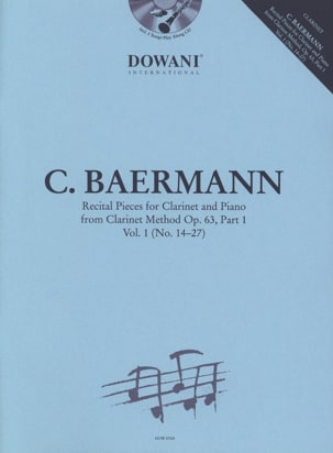 Carl Baermann - Recital Pieces, vol. 1 - Clarinette et piano - Partition - di-arezzo.fr