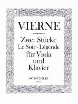 Louis Vierne - 2 Pièces, op. 5 - Alto et piano - Partition - di-arezzo.fr