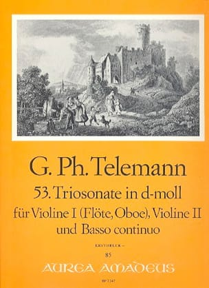 TELEMANN - Triosonate in d-moll - Sheet Music - di-arezzo.com