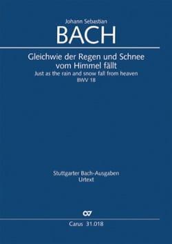 Cantate BWV 18 - Conducteur poche - BACH - laflutedepan.com