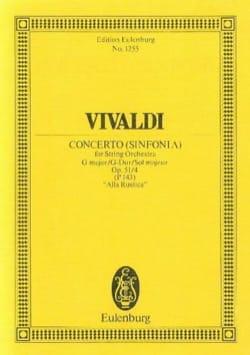 Konzert G-Dur Alla Rustica - VIVALDI - Partition - laflutedepan.com
