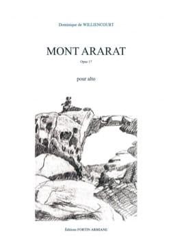 Dominique de Williencourt - Mont Ararat - Alto seul - Partition - di-arezzo.fr