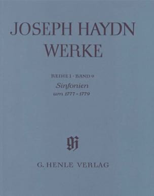 Joseph Haydn - Symphonien um 1777 - 1779 - Partition - di-arezzo.fr