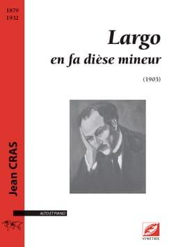 Jean Cras - Largo - Alto et piano - Partition - di-arezzo.fr