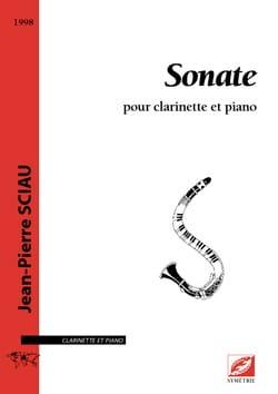 Jean-Pierre Sciau - Sonate - Clarinette et piano - Partition - di-arezzo.fr
